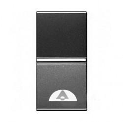 Выключатель 1-клавишный кнопочный ABB ZENIT, скрытый монтаж, антрацит, N2104 AN