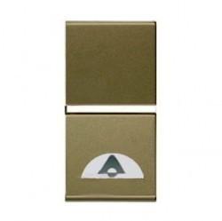 Выключатель 1-клавишный кнопочный ABB ZENIT, скрытый монтаж, шампань, N2104 CV