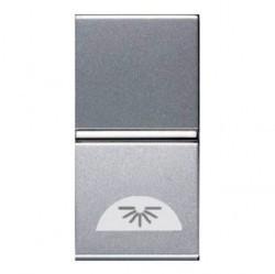 Выключатель 1-клавишный кнопочный ABB ZENIT, скрытый монтаж, серебристый, N2104 PL