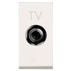 Розетка TV ABB ZENIT, одиночная, альпийский белый, N2150 BL