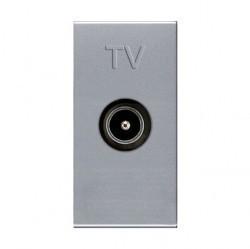 Розетка TV ABB ZENIT, одиночная, серебристый, N2150 PL