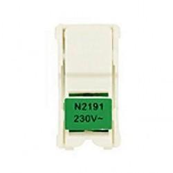 Zenit Блок светодиодной подсветки для 1-пол. выключателей и кнопок, цвет цоколя зелёный