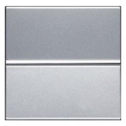 Выключатель 1-клавишный двухполюсный ABB ZENIT, скрытый монтаж, серебристый, N2201.2 PL