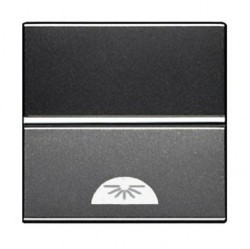 Выключатель 1-клавишный кнопочный ABB ZENIT, скрытый монтаж, антрацит, N2204.2 AN