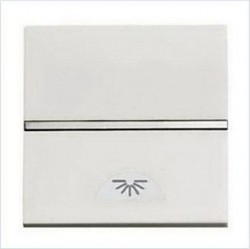 Выключатель 1-клавишный кнопочный ABB ZENIT, скрытый монтаж, альпийский белый, N2204.2 BL
