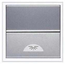Выключатель 1-клавишный кнопочный ABB ZENIT, скрытый монтаж, серебристый, N2204.2 PL