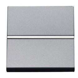 Выключатель 1-клавишный кнопочный ABB ZENIT, скрытый монтаж, серебристый, N2204.6 PL