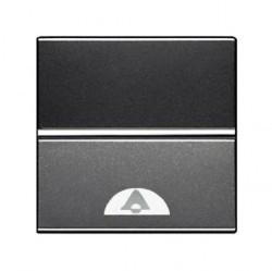 Выключатель 1-клавишный кнопочный ABB ZENIT, скрытый монтаж, антрацит, N2204 AN