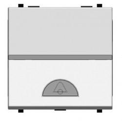Выключатель 1-клавишный кнопочный ABB ZENIT, скрытый монтаж, серебристый, N2204 PL
