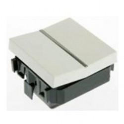 Переключатель 1-клавишный перекрестный ABB ZENIT, скрытый монтаж, альпийский белый, N2210 BL