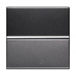 Переключатель 1-клавишный перекрестный ABB ZENIT, скрытый монтаж, серебристый, N2210 PL