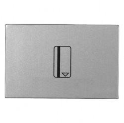 Карточный выключатель двухмодульный ABB ZENIT, механический, серебристый, N2214.1 PL