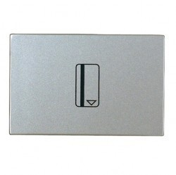 Карточный выключатель двухмодульный ABB ZENIT, электронный, серебристый, N2214.5 PL
