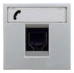 Розетка 1xRJ12 ABB ZENIT, серебристый, N2217.6 PL