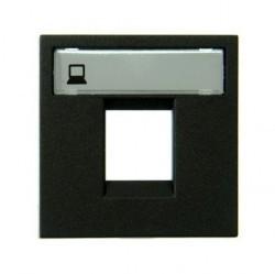 Накладка на розетку информационную ABB ZENIT, антрацит, N2218.1 AN