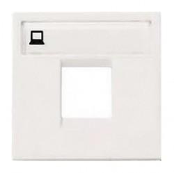 Накладка на розетку информационную ABB ZENIT, альпийский белый, N2218.1 BL