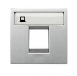 Накладка на розетку информационную ABB ZENIT, серебристый, N2218.1 PL