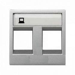Накладка на розетку информационную ABB ZENIT, серебристый, N2218.2 PL
