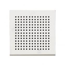 Накладка (решётка) для громковорителя 2, серия Zenit, цвет альпийский белый