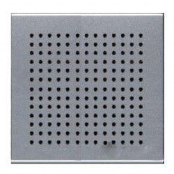 Накладка (решётка) для громковорителя 2, серия Zenit, цвет серебристый