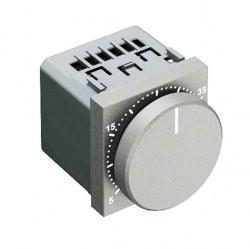 Термостат для теплого пола ABB ZENIT, с датчиком, серебристый, N2240.3 PL