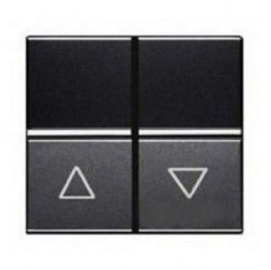 Выключатель для жалюзи 2-клавишный кнопочный ABB ZENIT, антрацит, N2244.1 AN