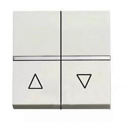 Выключатель для жалюзи 2-клавишный кнопочный ABB ZENIT, альпийский белый, N2244.1 BL