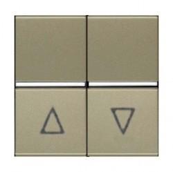 Выключатель для жалюзи 2-клавишный кнопочный ABB ZENIT, шампань, N2244.1 CV
