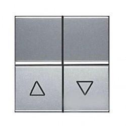 Выключатель для жалюзи 2-клавишный кнопочный ABB ZENIT, серебристый, N2244.1 PL