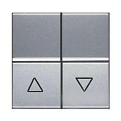 Выключатель 2-клавишный ABB ZENIT, скрытый монтаж, серебристый, N2244.5 PL