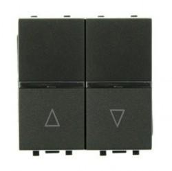 Выключатель для жалюзи 2-клавишный кнопочный ABB ZENIT, антрацит, N2244 AN