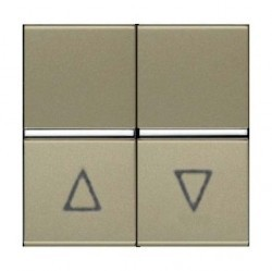 Выключатель для жалюзи 2-клавишный кнопочный ABB ZENIT, шампань, N2244 CV