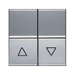 Выключатель для жалюзи 2-клавишный кнопочный ABB ZENIT, серебристый, N2244 PL