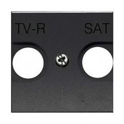 Накладка на розетку телевизионную ABB ZENIT, антрацит, N2250.1 AN