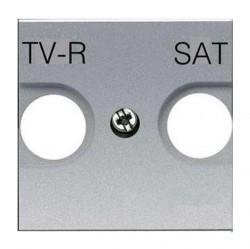 Накладка на розетку телевизионную ABB ZENIT, серебристый, N2250.1 PL