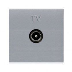 Розетка TV ABB ZENIT, одиночная, серебристый, N2250.7 PL