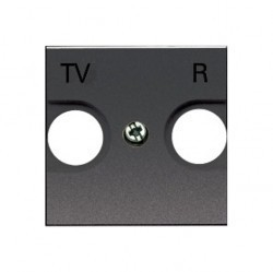 Накладка на розетку телевизионную ABB ZENIT, антрацит, N2250.8 AN