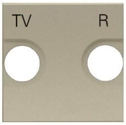Накладка на розетку телевизионную ABB ZENIT, шампань, N2250.8 CV