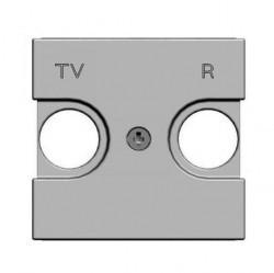 Накладка на розетку телевизионную ABB ZENIT, серебристый, N2250.8 PL