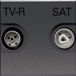 Розетка TV-FM-SAT ABB ZENIT, одиночная, антрацит, N2251.3 AN