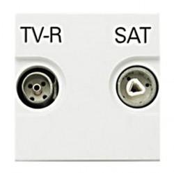 Розетка TV-FM-SAT ABB ZENIT, одиночная, альпийский белый, N2251.3 BL