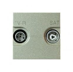Розетка TV-FM-SAT ABB ZENIT, одиночная, шампань, N2251.3 CV