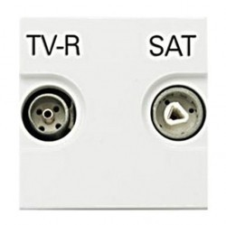 Розетка TV-FM-SAT ABB ZENIT, одиночная, серебристый, N2251.3 PL
