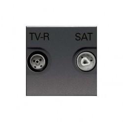 Розетка TV-FM-SAT ABB ZENIT, оконечная, антрацит, N2251.7 AN