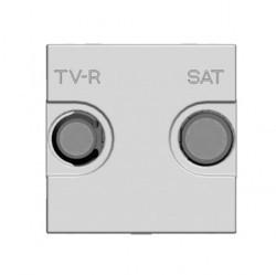 Розетка TV-FM-SAT ABB ZENIT, оконечная, серебристый, N2251.7 PL