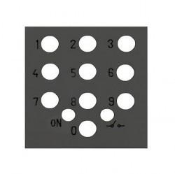 Zenit Накладка на мех-зм выключателя с кодовой панелью 2-мод., антрацит
