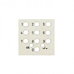 Zenit Накладка на мех-зм выключателя с кодовой панелью 2-мод., шампань