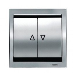Выключатель для жалюзи 2-клавишный кнопочный ABB ZENIT, альпийский белый, N2261.2 BL