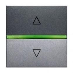 Выключатель для жалюзи 2-клавишный кнопочный ABB ZENIT, серебристый, N2261.2 PL