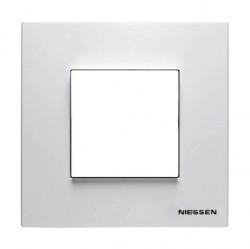 Рамка 1 пост ABB ZENIT, альпийский белый, N2271.1 BL